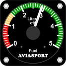 Fuel level indicator, 50Lts, 57mm, programmable
