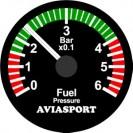 Manómetro pressão de combustível 52mm BAR (sensor UMA 35 PSI)