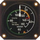 """Velocímetro 0 - 160 Knots 57 mm 510º (2""""1/4) - MG"""
