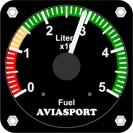 Indicador de nível de combustível, 50Lts, 57mm, programável