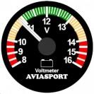 "Voltmeter 52mm (2"") - AVIASPORT"